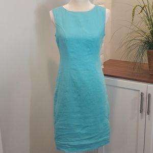 Blue Linen Dress, Size 6 (EU 36)